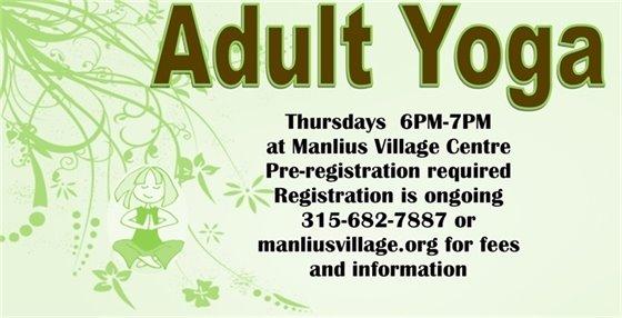 Adult Yoga this Thursday