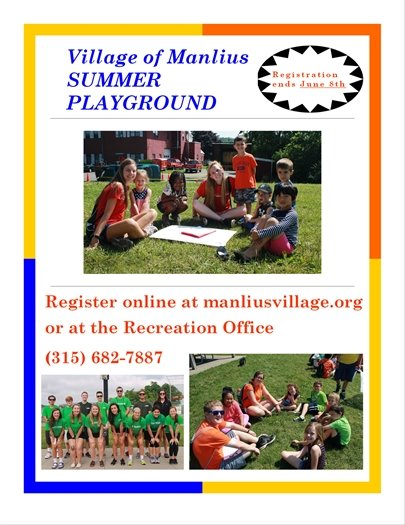 Registration for Summer Playground ends June 8th!